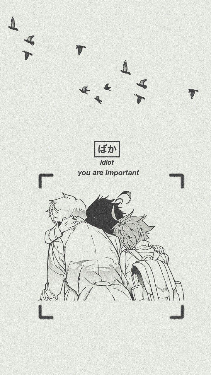 Yakusoku No Neverland Wallpaper Loockscreen Ray Emma