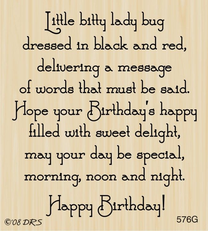 Ladybug Birthday Greeting - DRS Designs                                                                                                                                                      More
