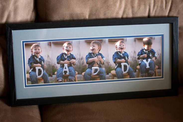 Cute gift idea for Dad! DIY Daddy Frame!