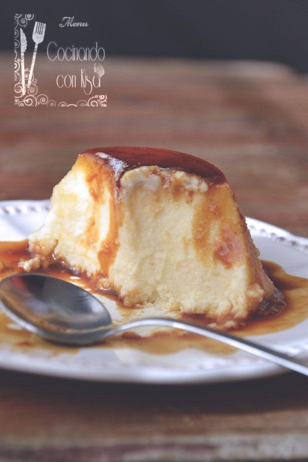 Cocinando con Kisa: Flan de queso mascarpone (Forma tradicional)