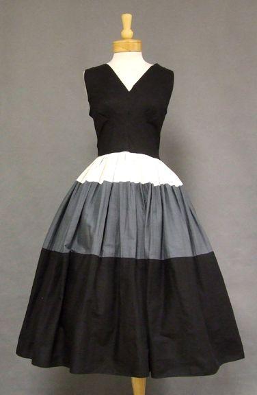 1950's Color Blocked Sundress