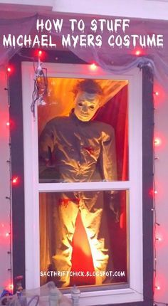 Sac Thrift Chick: DIY Halloween Decorations: How to Stuff a Life-Size Michael Myers Costume