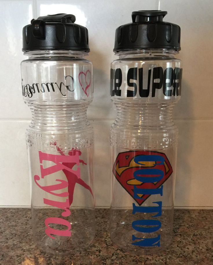 Personalized water bottles, Custom water bottles, BPA free water bottles, Party favors, party favor water bottles, sport water bottles by IdahoEmbroidery on Etsy