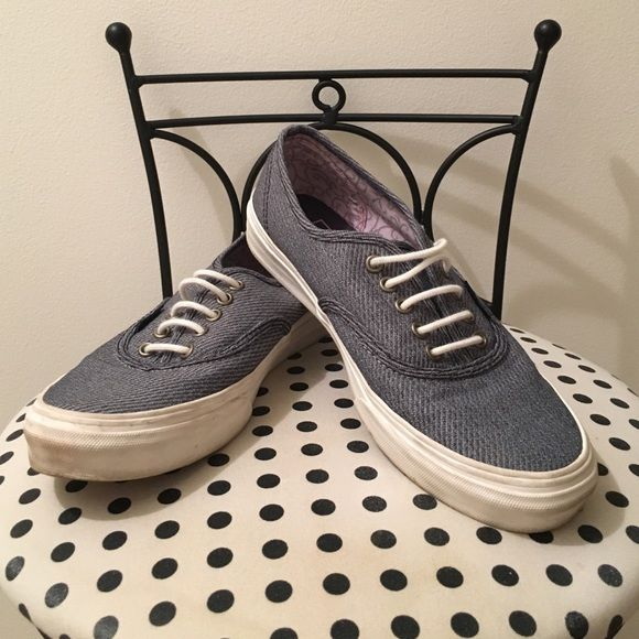 Navy Vans size 6 Marshmallow colored vans. Women's size 6. Only worn a few times. Vans Shoes Sneakers