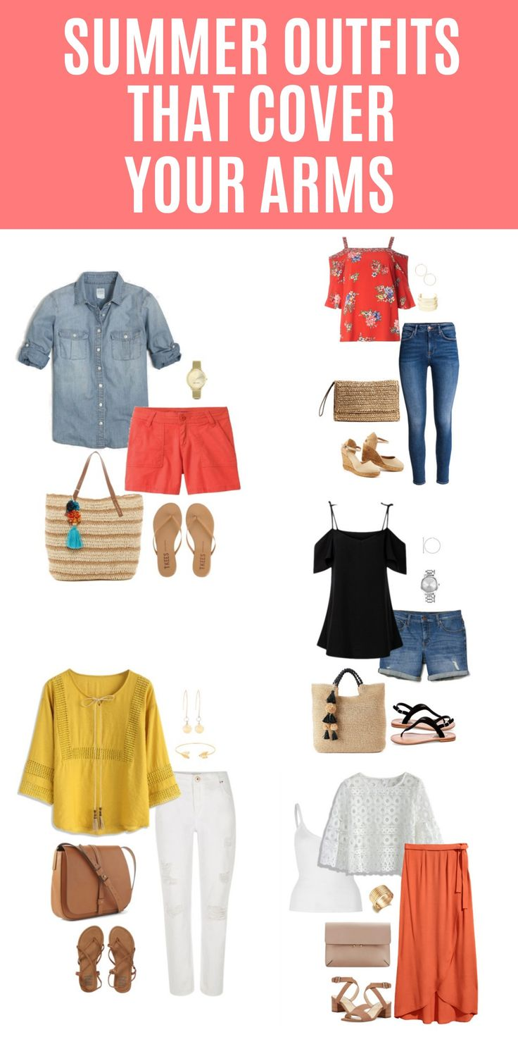 5 Summer Outfits That Cover Your Arms: The summer heat has arrived in most places and that usually means less clothing so we can all stay cool. But not every woman likes wearing sleeveless tops. So how does one dress to stay cool? Here are five summer outfits that cover your arms, are stylish and will keep you cool.