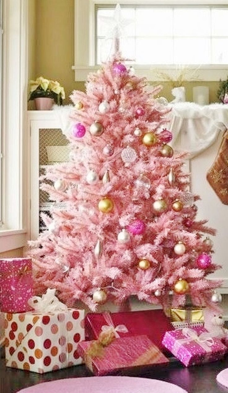 Cool 37 Cute Pink Christmas Tree Decoration Ideas for Your Holiday Season. More at https://trendecor.co/2017/12/10/37-cute-pink-christmas-tree-decoration-ideas-holiday-season/