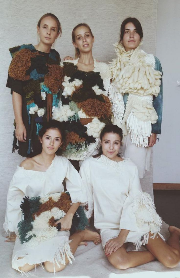 Fungi is a fashion collection inspired in ocean, reefs, lichen. The clothes are all handmade and were used a manual techniques, like weaving and hand dyes to get the unique details.