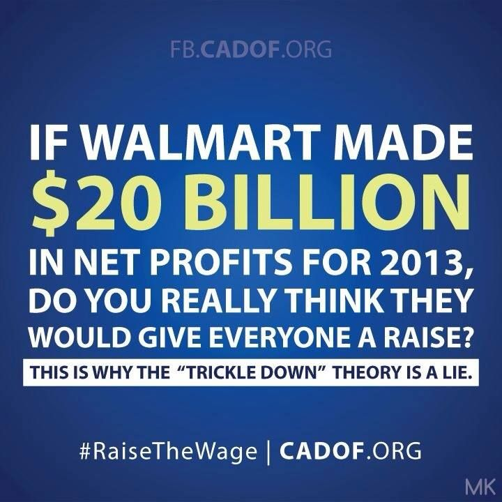 """Trickle Down Economics"" us a JOKE! And it's a bad joke ... on us all."