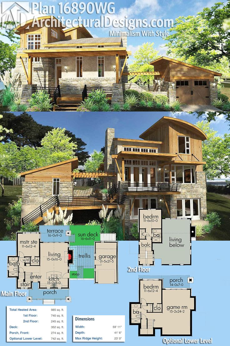 Architectural Designs House Plan 16890WG gives you