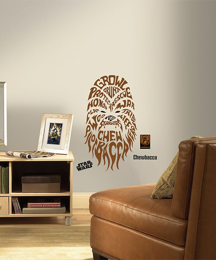 Vintage Star Wars Typographic Chewbacca Peel u Stick Decal Set by RoomMates zulily