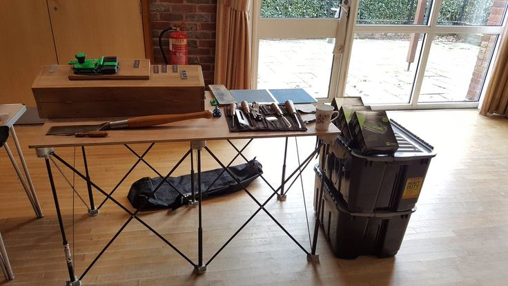 """Gervase Evans on Twitter: """"Demo stand ready for #menssheds AGM using @CentipedeTool for supporting our stand. #SharpEdge #sharpening #tooltalk #Ineedcoffee https://t.co/dHiNoBb73j"""""""