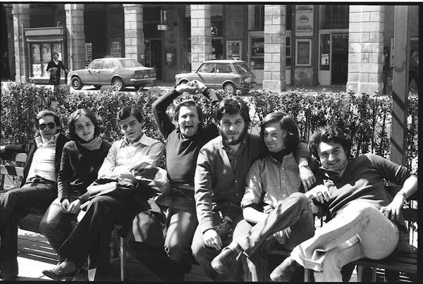 Piccolo Bar, Piazza Verdi, Bologna, April 1977.