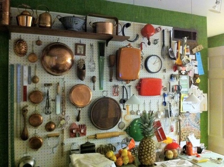 pegboard for the tools behind the kitchen door??