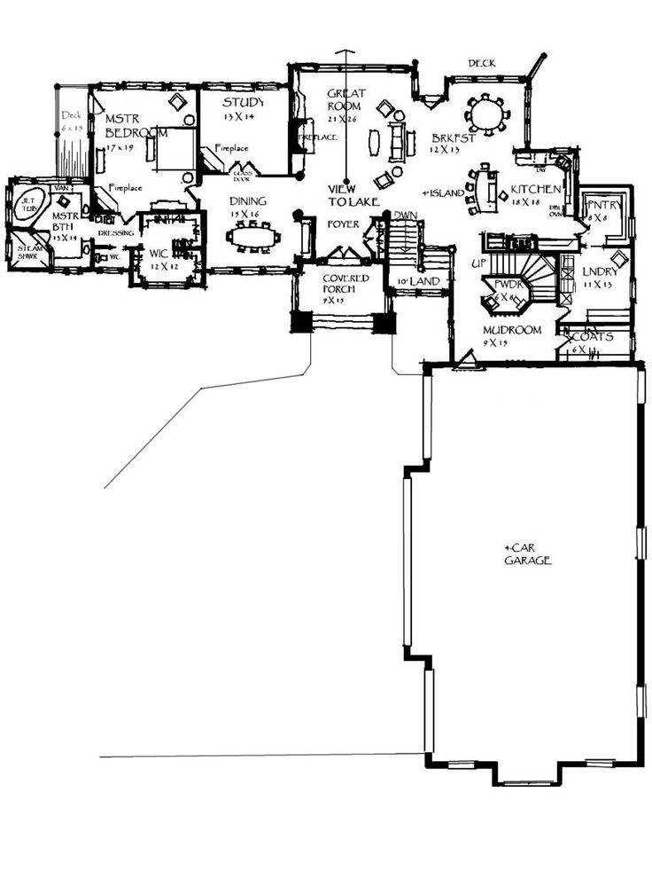 17 best images about rambler plans on pinterest for Rambler house plans with 3 car garage