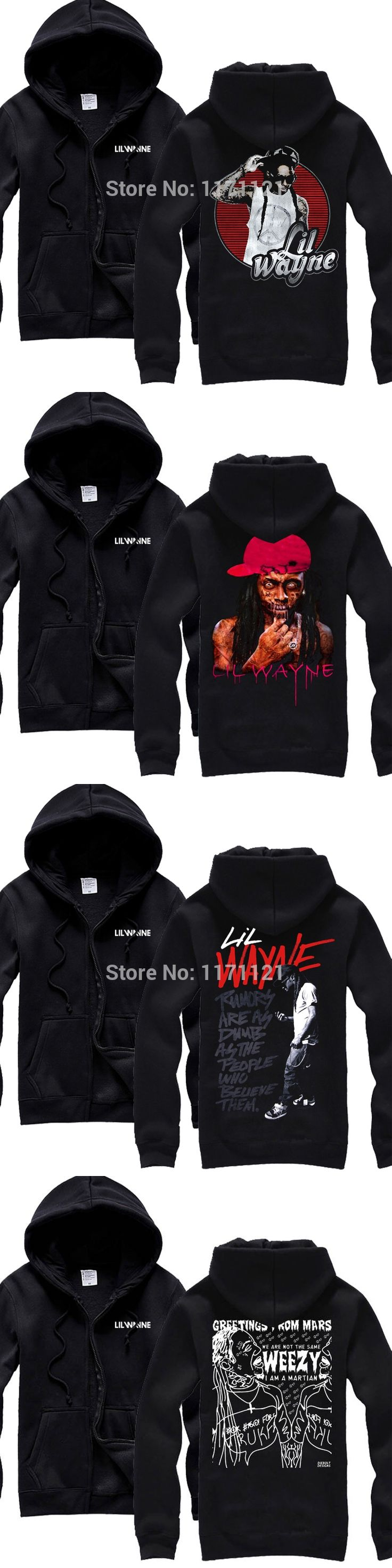 Free shipping  Lil Wayne acid rock black NEW music  pop  hoodie