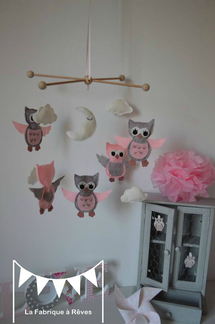 Best 25 mobile b b fille ideas on pinterest - Chambre bebe fille rose et gris ...