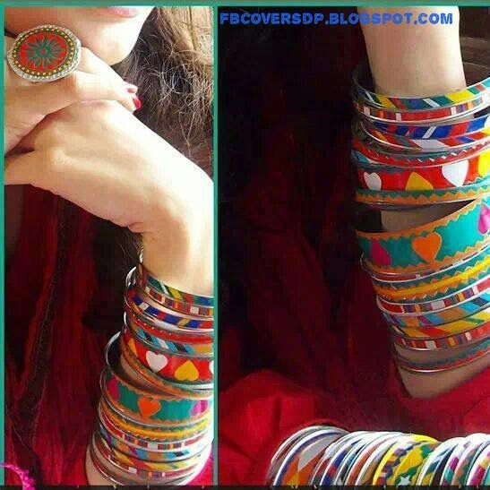 stylish girl with bangles on hands facebook dp   stylish dp s and