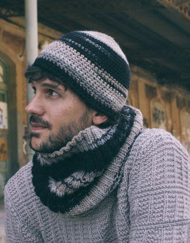Book extra 1 Autumn / Winter | 60: Man Cap | Beige-Black Funky