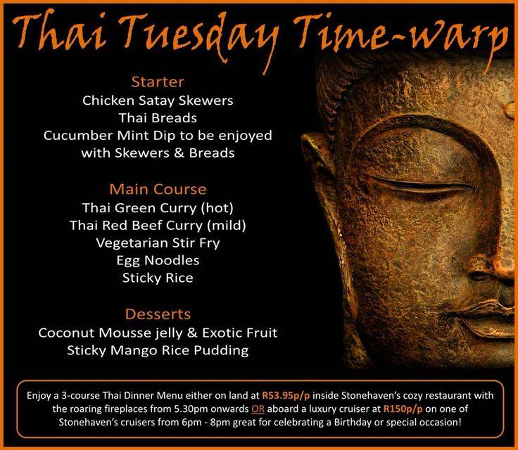 Tonight's Thai themed dinner menu