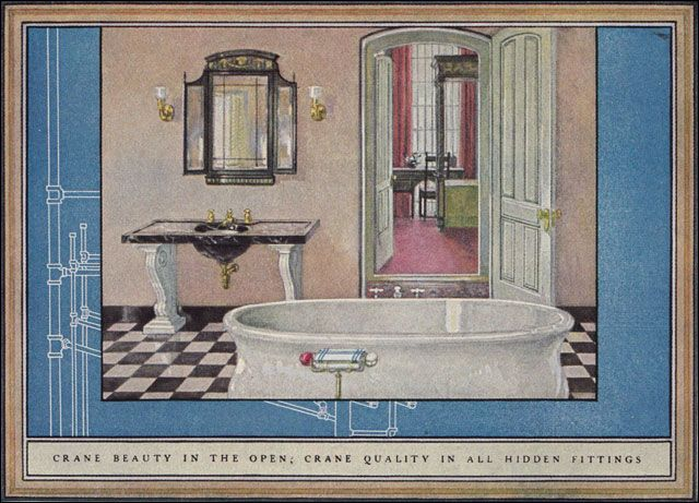 17 best images about bathrooms on pinterest art deco for Bathroom 1920s style