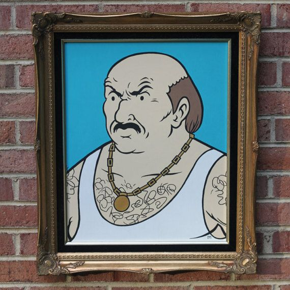 Carl Brutananadilewski (Aqua Teen Hunger Force) Portrait in gold frame