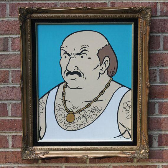 Carl Brutananadilewski (Aqua Teen Hunger Force) Portrait in gold frame