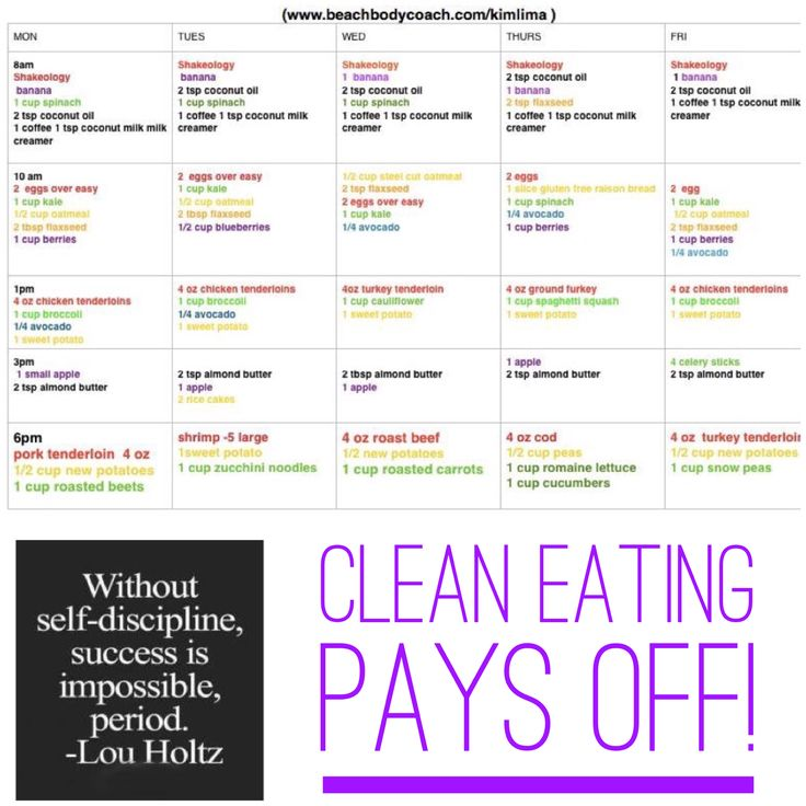 7 day cize down meal plan