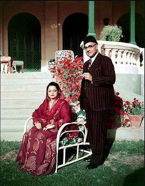 Ra'ana Liaquat Ali Khan with her husband Liaquat Ali Khan