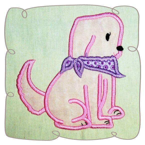 Gita Dog Applique Machine Embroidery Design Pattern-INSTANT DOWNLOAD