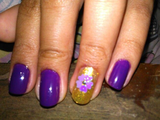 #purple #flower #nails