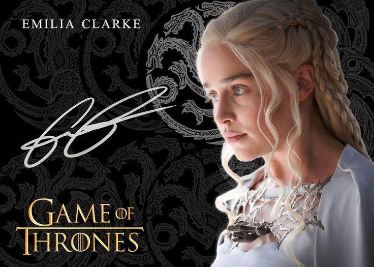 Game of Thrones Daenerys Targaryen Emilia Clarke AutoRepro Promo Card 4/5