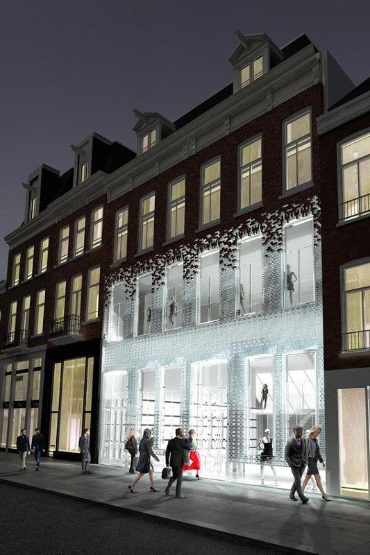 Pc hoofdstraat, amsterdam. Glazen bakstenen