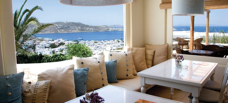 Mykonos Luxury Hotel - Vencia.  The location couldn't be more perfect  www.asiminatours.com