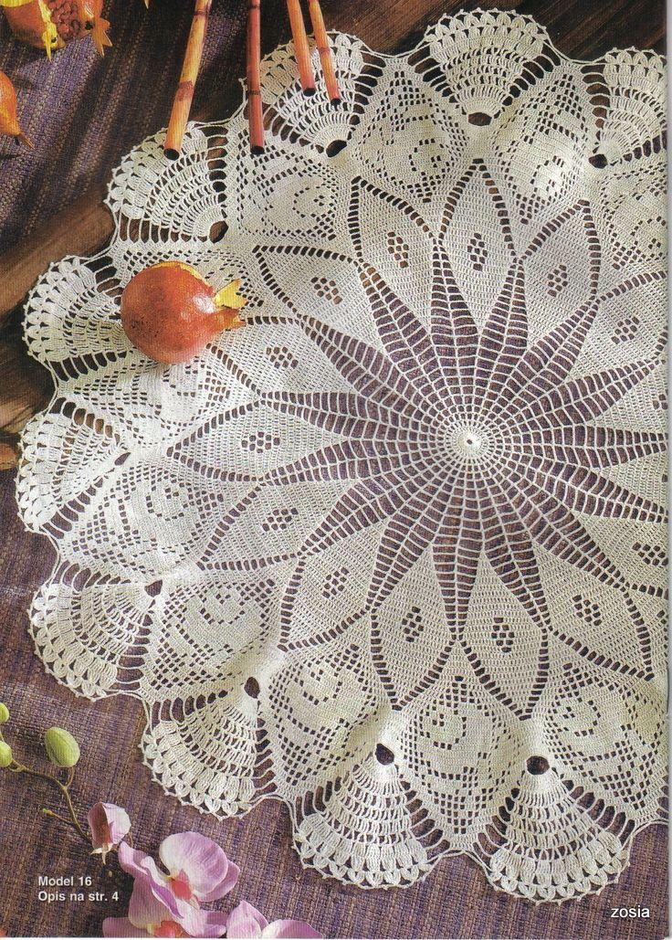 Mais de 1000 imagens sobre Naperons e toalhas de mesa no Pinterest