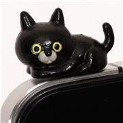 black cat mobile phone plugy earphone jack accessory