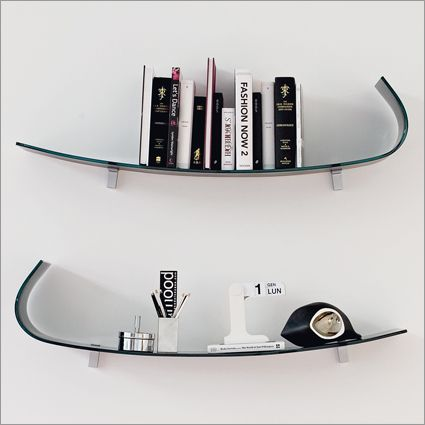 Elegant yet quirky Calligaris glass shelves
