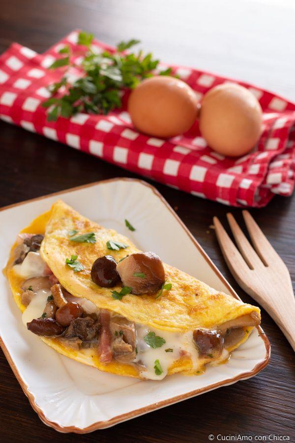 Ricetta Omelette Prosciutto E Funghi.Omelette Con Funghi E Prosciutto Ricette Ricette Di Cucina Cibo