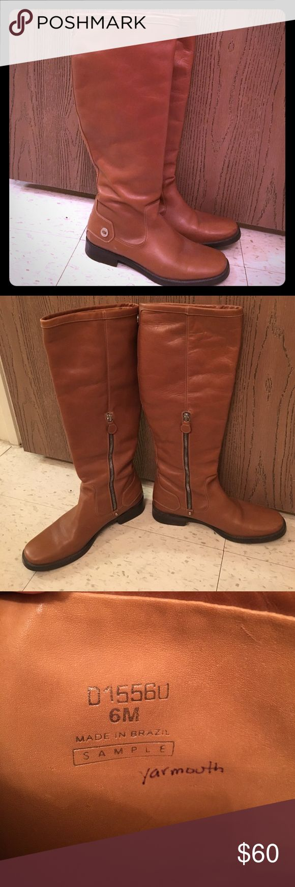 Cole Haan mid-calf boots These Cole Haan sample boots are in great condition and we're hardly ever worn. The camel color makes it easy to wear with anything and is a sleek and traditional riding boot style. Cole Haan Shoes