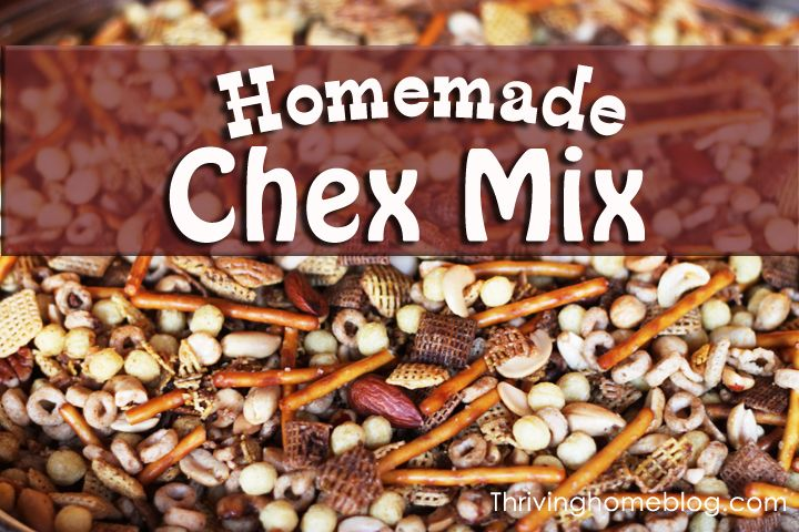 Perfect snack for the holidays. An addictive homemade Chex Mix recipe. Great for groups!