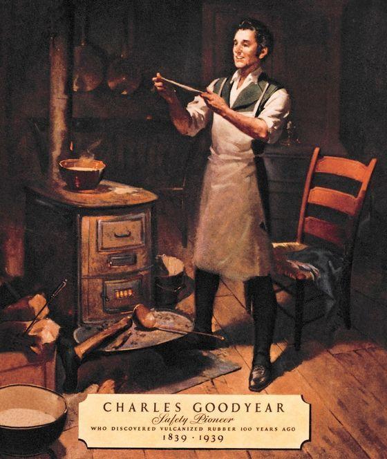 15 juni 1844 ♦ Charles Goodyear krijgt het octrooi voor het vulkaniseren van rubber.