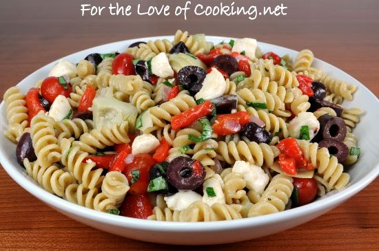 Roasted Red Pepper Pesto Pasta With Kalamata Olives And Feta Recipes ...