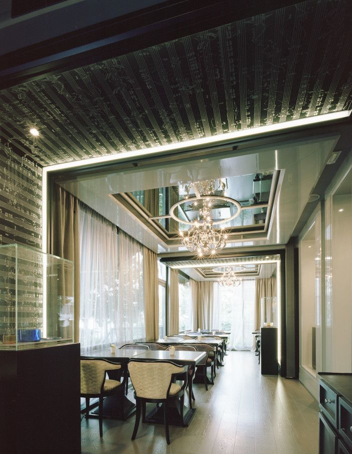 SoFarSoNear have recently completed a project with r+s architects at the luxury  5*Hotel Carlton Baglioni in Milan where the cafe and terrace areas have been refubished, and Spartito fabric has been used to cover the acoustic panels.