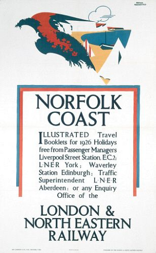 Image of 'norfolk coast - illustrated travel booklets', lner poster, 1926. by Science & Society Picture Library