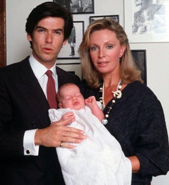 1983 - Pierce Brosnan, Wife Cassandra & Son, Sean