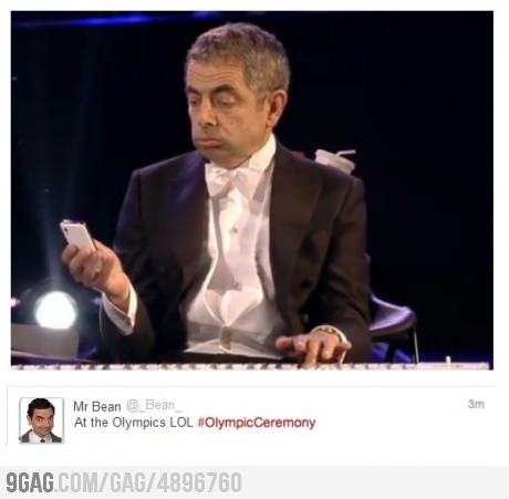 Mr Bean actually tweeted that #olympics: Awesome Socks, Sooo Funny, Laughing So Hard, Dang Funny, Super Funny, So Funny, Mr Beans, Beans Tweets, Rowan Atkinson