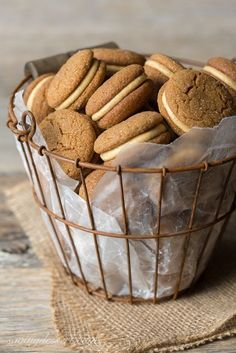 Fall is right around the corner! Celebrate with Soft Ginger-Molasses Cookies with Pumpkin-Butter Buttercream.