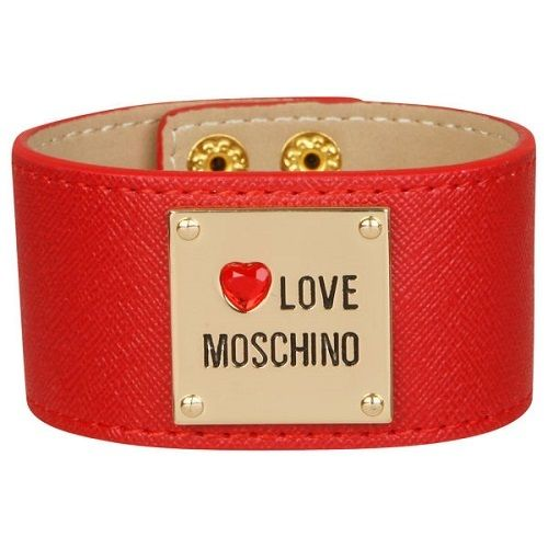Make a statement with the Love Moschino Women's Cuff Bracelet - Red. Made from the finest quality leather, the cuff features a gold-tone badge with a 'Love Moschino' logo and jewelled heart detailing. Securing with popper closures, this vibrant cuff will perfectly complement any outfit. - L.M.Leather constructionGold-tone badge with 'Love Moschino' logoJewelled heart detailingPopper closures* All prices in US Dollars* Shipping Approximately 7-10 days WORLDWIDE -$15...