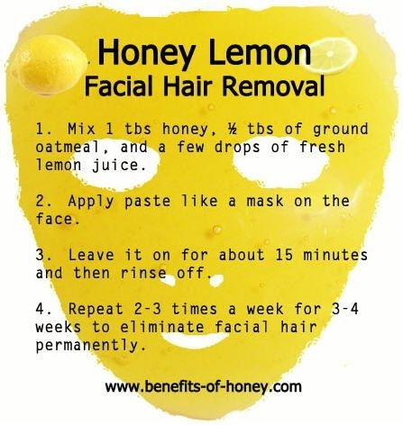 Honey Lemon for facial hair removal http://hairsheddingenius.com/category/fear-the-beard/
