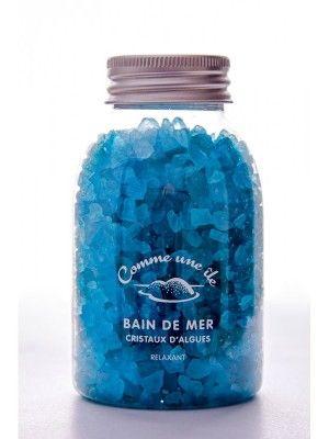 Bain de mer aux cristaux d'algues bleu - Algoplus
