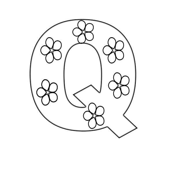 Free Printable Letter Q Coloring Pages